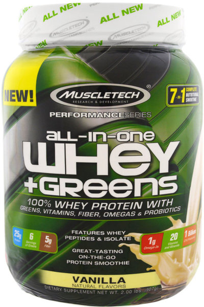 MuscleTech All-In-One Whey + Greens 907g (2lb)